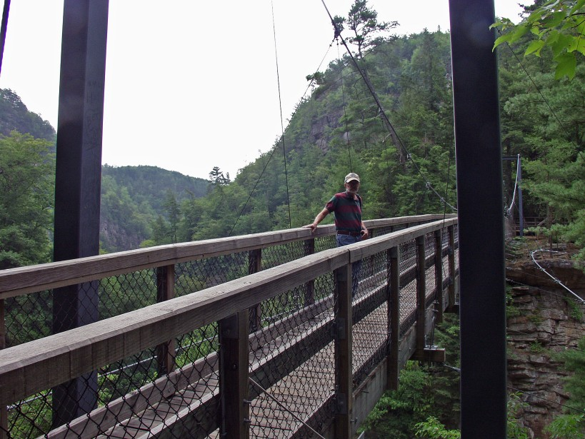 Suspension bridge over Tallulah Gorge