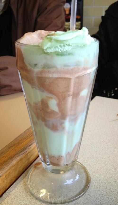 Choco-mint soda