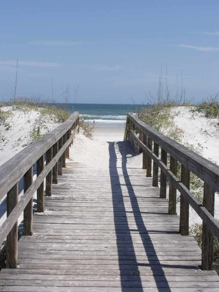 Pathway to the beach at St. Augustine Beach, Florida