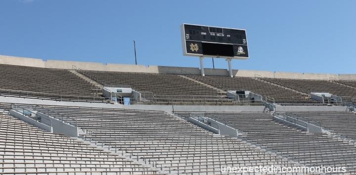 Stadium seating, University of Notre Dame