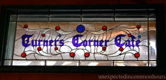 Leaded glass sign