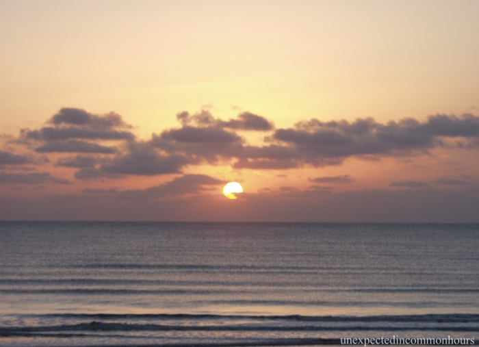 Sunset over the water, St. Augustine Beach, Florida