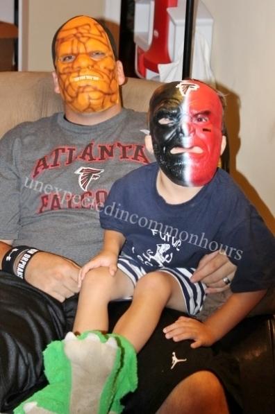 Two monster masks