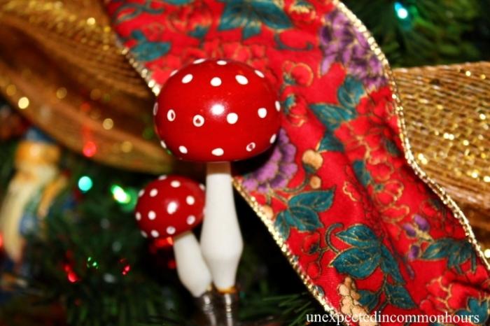 Christmas tree mushrooms