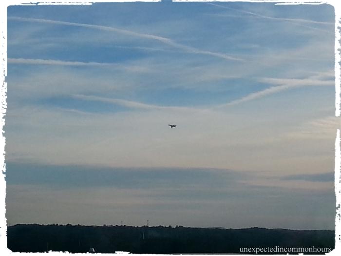 plane from hospital window #1