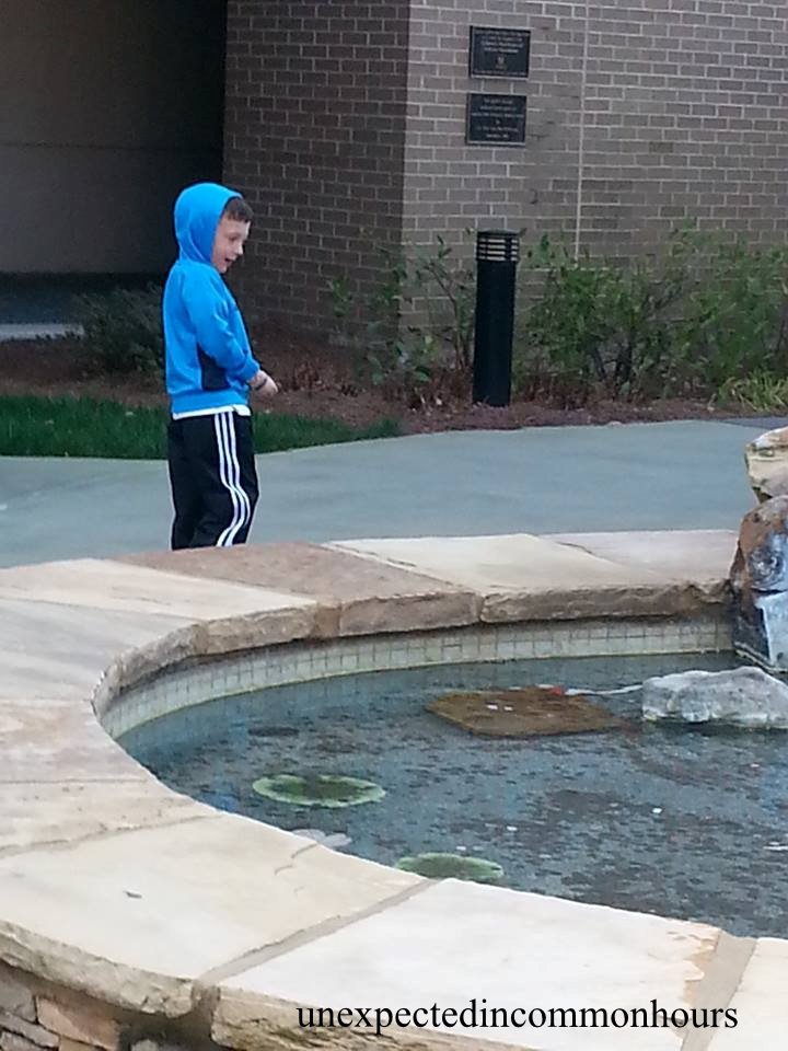 At the fountain #1