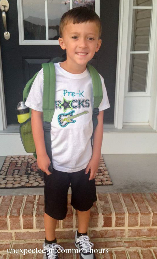 First day of pre-K #2