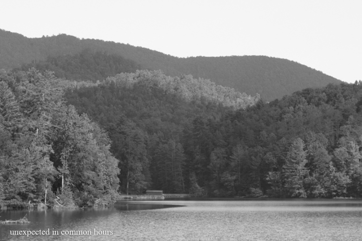 Far away in the distance, Unicoi Lake