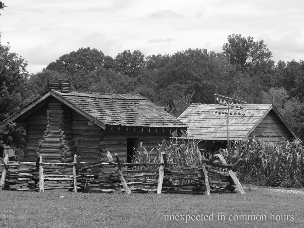 Fence around the slave cabins at the Chief Vann House.  Vann, a Cherokee planter, was a wealthy slave owner.
