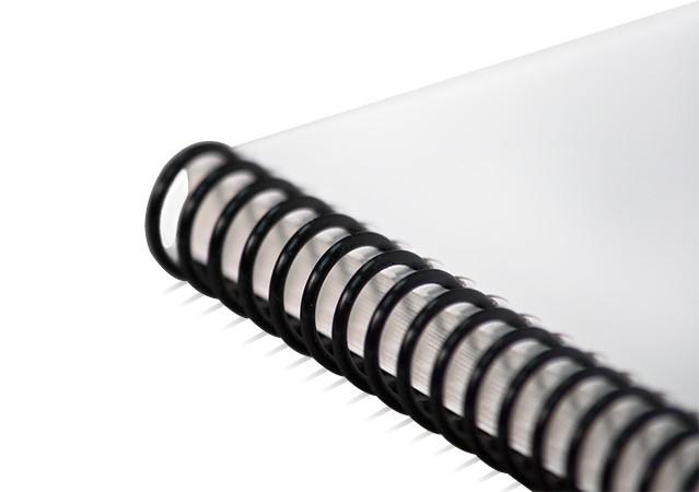 plastic spiral bound notebook