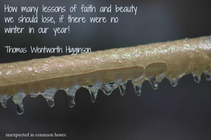 Higginson winter quote