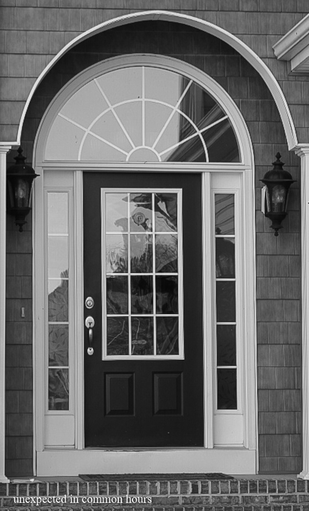 Geometric front door on one of my favorite houses, my daughter's home