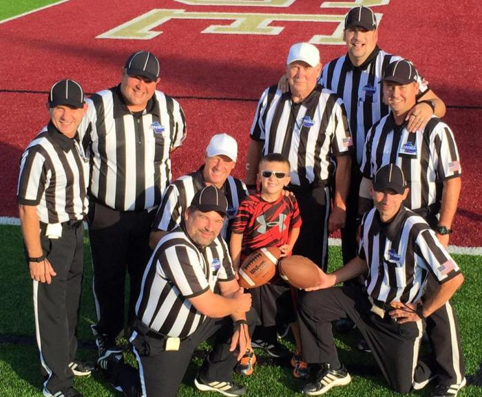 Football referees with Ben
