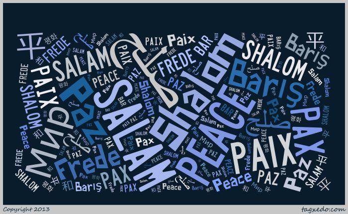 peace tag cloud