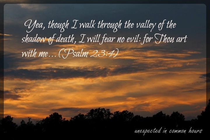 Psalm 23, verse 4