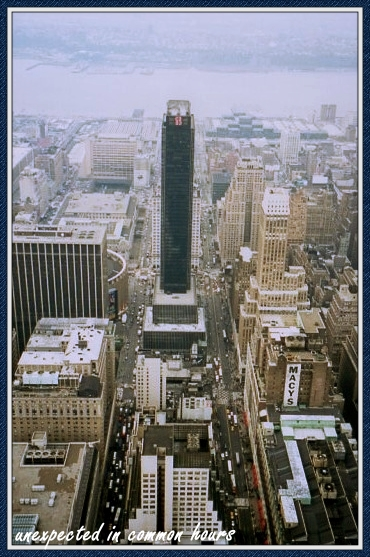 Looking down from the Empire State Building in New York City (photo taken with a film camera in 1998)