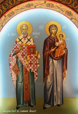 St. Photios with the Mother of God and the Christ Child