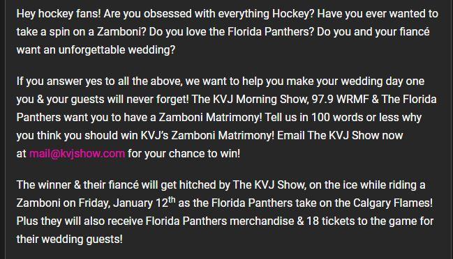 Zamboni matrimony