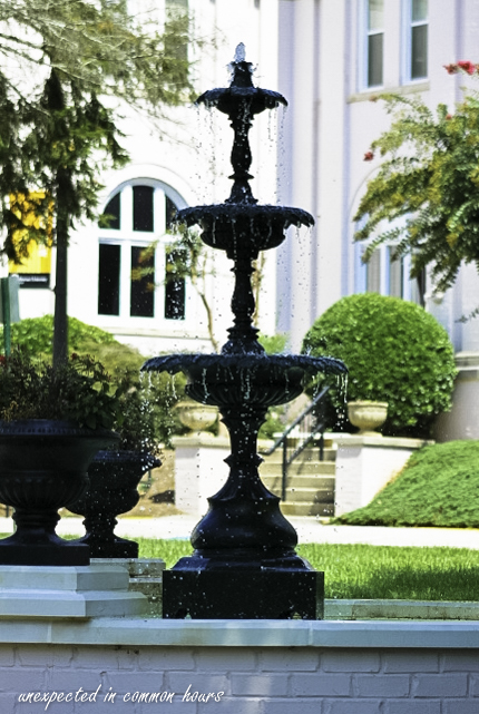 Iconic Brenau fountain