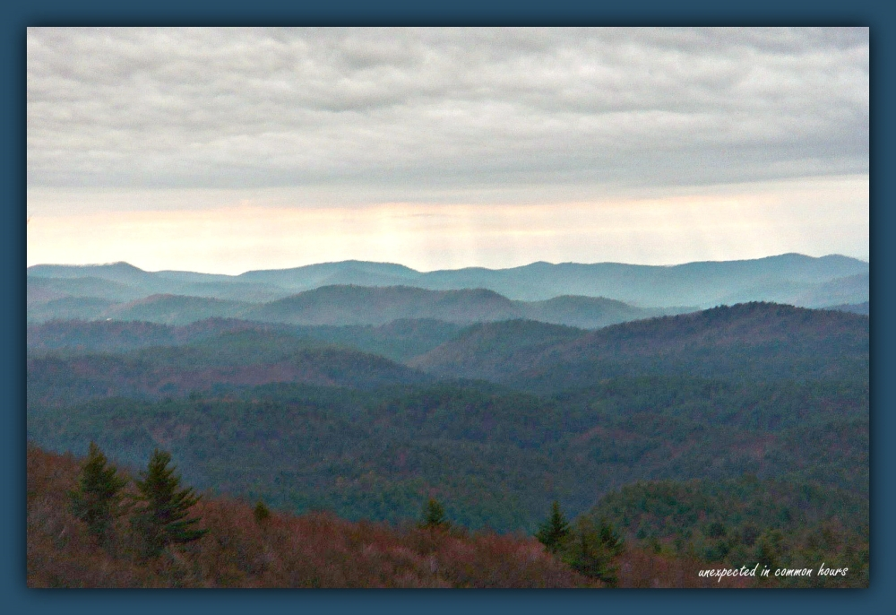 Blue Ridge Mountains with border