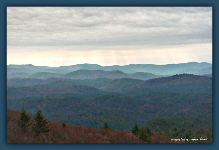 Blue Ridge Mountains with border