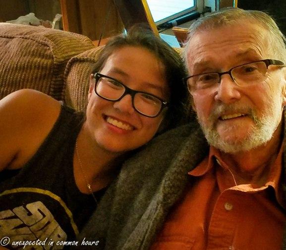 Kylie and Grandpa