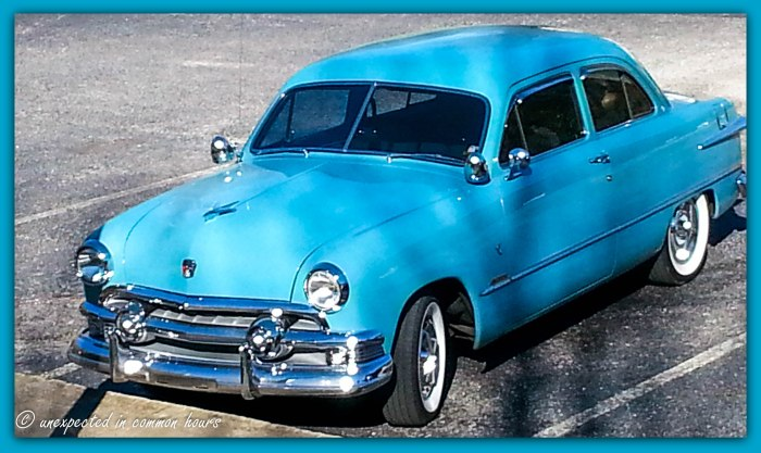 Vintage blue auto