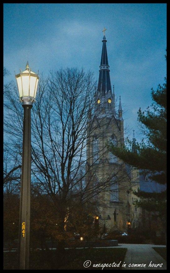 Streetlight at Notre Dame