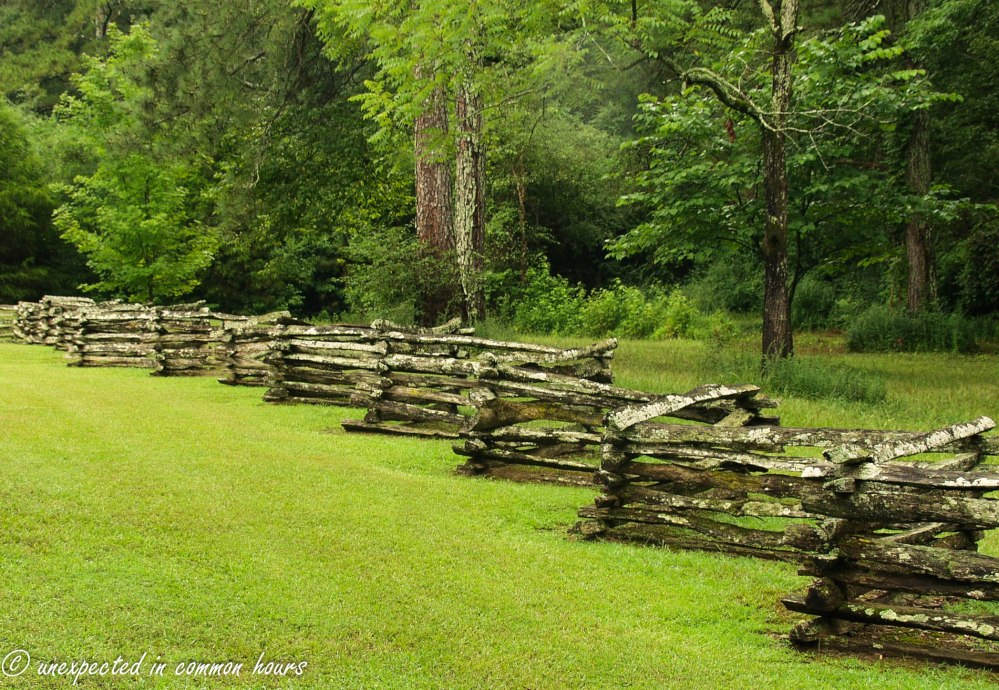 Fence at Wooster House at New Echota