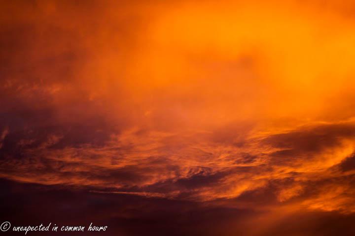 Fiery sunrise at Rocky Face