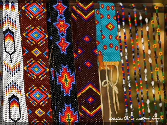 beadwork in rainbow colors